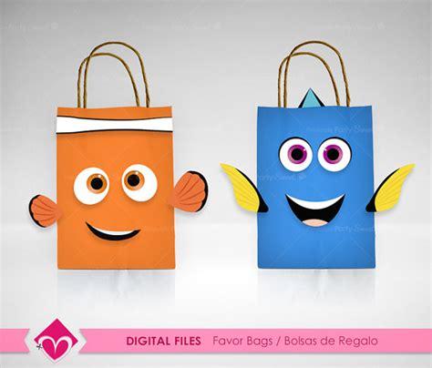 Goodybag Nemo finding dory favor bags digital files finding nemo diy