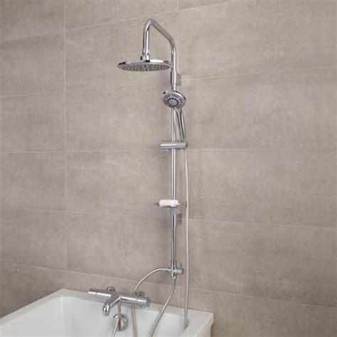 Bathroom Mixer Shower Taps Focus Thermostatic Deck Mounted Bath Shower Mixer With Rail Kit