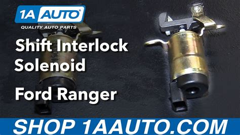 buy car manuals 2011 ford e250 transmission control how to install replace shift interlock solenoid 1995 09 ford ranger buy auto parts at 1aauto com