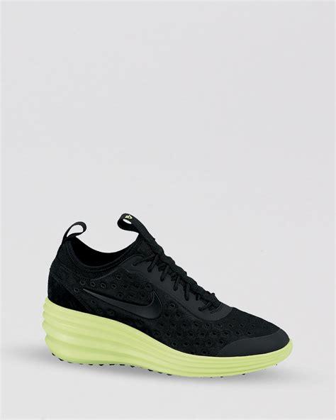 nike elite sneakers nike lace up sneakers womens lunar elite sky hi in black
