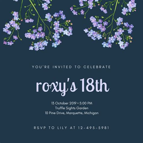 18th invitation templates free customize 955 18th birthday invitation templates