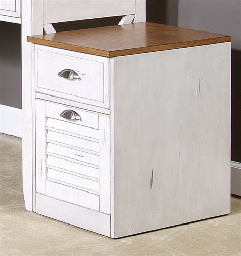 ocean isle bisque and natural pine file cabinet ocean isle writing desk in bisque with natural pine finish