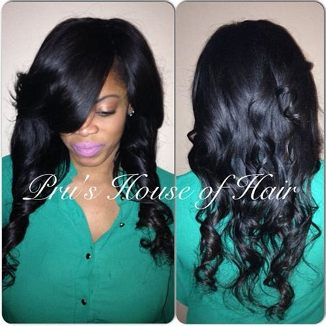 invisible sew in weave hairstyles beautiful new client kim with a flawless invisible part