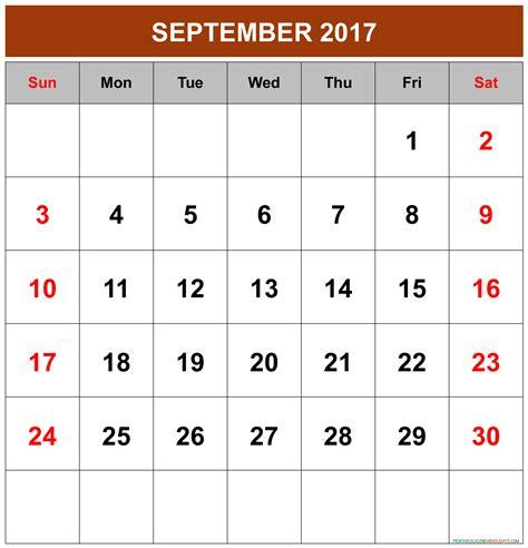 Calendar 2017 September To December 2017 Calendar Archives Printable 2017 Calendar