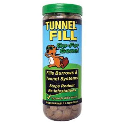 soil tunnel fill gopher fills 50 in