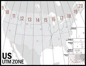 america utm map utm zones map images