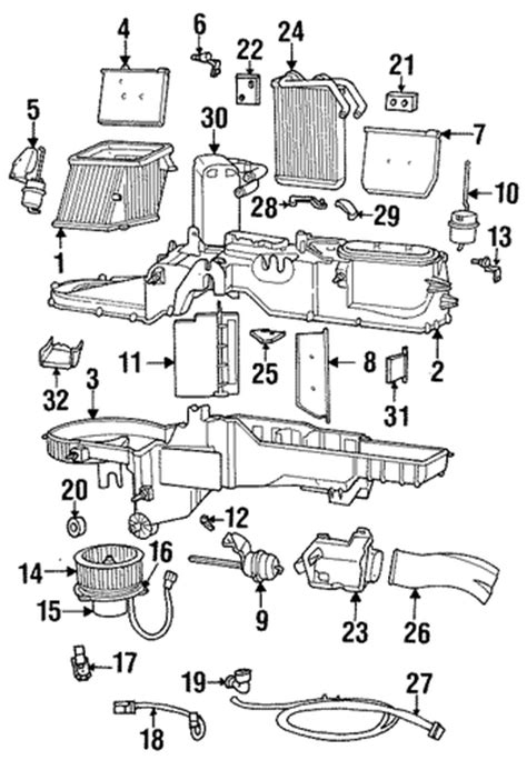 evaporator heater components for 1999 dodge ram 1500