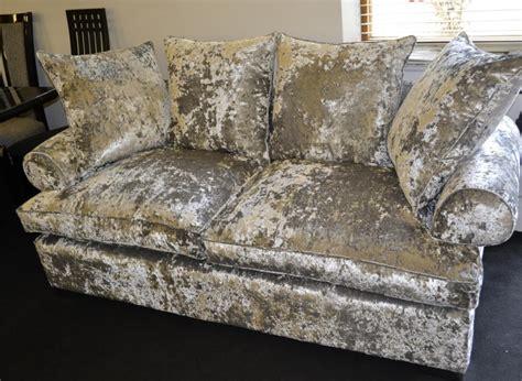 crushed velvet sofa bespoke stress buster crushed velvet 2m sofa f d