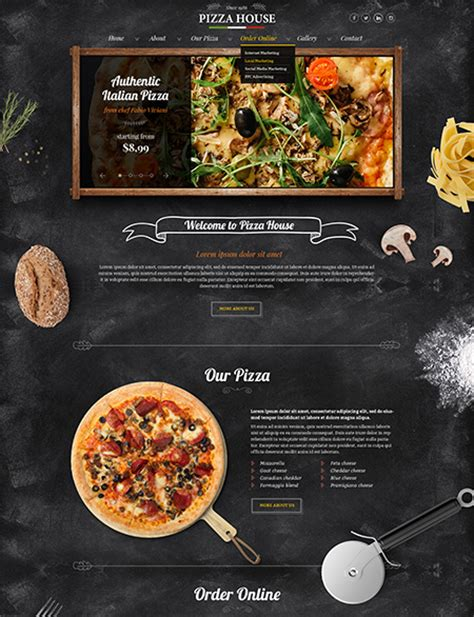 Pizza House Html Website Template Best Website Templates Pizza Website Template
