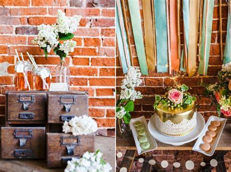 dekorieren eines speisesaals buffet tischdeko ideen im rustikalen stil ein dessert buffet