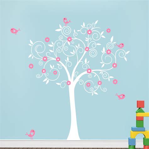 wallpaper for baby bedroom birds flowers tree wall decal sticker mural wallpaper vinyl baby room nursery play