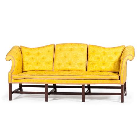 sofa with removable back rare chippendale camelback sofa with removable back