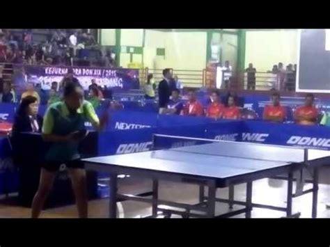 Meja Tenis Meja Di Bandung tenis meja pra pon 2016 di gor tri lomba juang di
