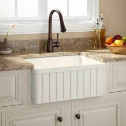 24 quot oldham fireclay farmhouse sink fluted apron