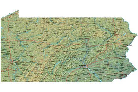 map pennsylvania pennsylvania sights
