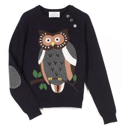 Owel Sweter owl critter cardigan sweater grey