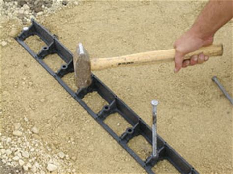 Patio Pavers Edge Restraints Steps 2 4 Compacting The Base Setting Guides And