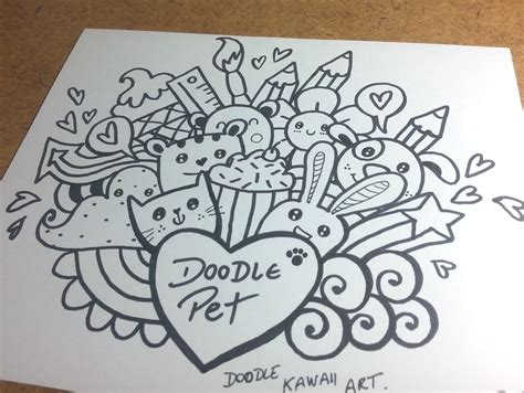 simple doodle for beginners with name doodle pet basic