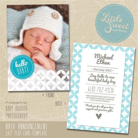 baby birth announcement card template free 5x7 birth announcement template baby announcement