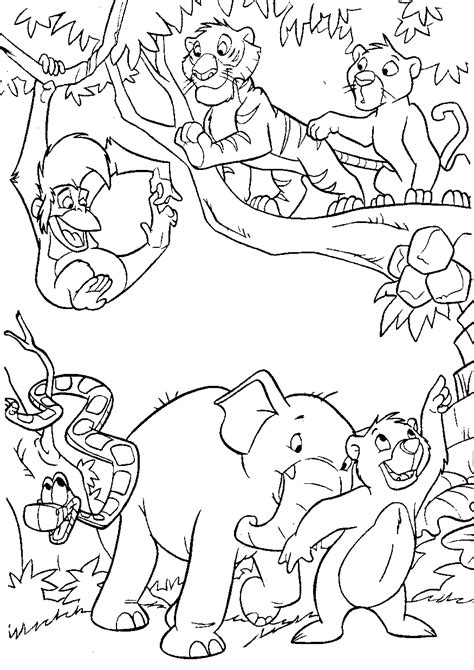 printable coloring pages jungle printable jungle animals coloring pages jungle animals