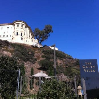Getty Pch - view of the getty villa off of pch looking south vehicle entrance is located to the