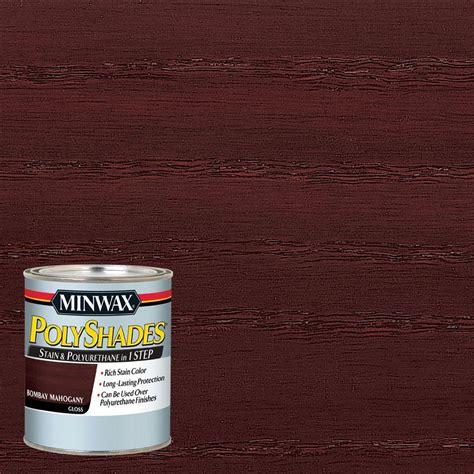 minwax 1 qt polyshades bombay mahogany gloss stain and