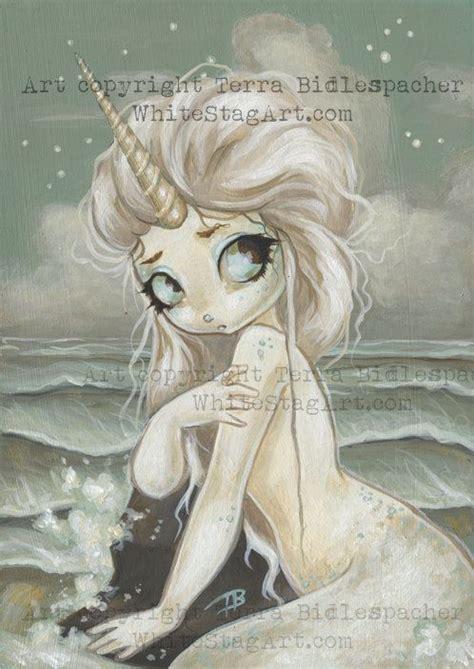 mermaid fairy unicorn mermaid fairy fantasy lowbrow gothic art by
