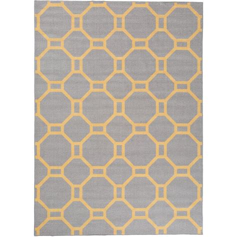Yellow Area Rug 5x8 Contemporary Geometric Non Slip Non Skid Gray Yellow Area Rug 5 Ft 3 In X 7 Ft 3 In 510