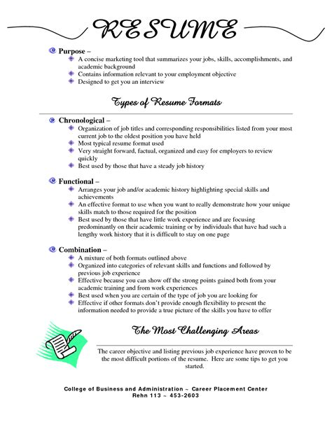Different Resumes Format by Different Resume Formats Resume Templates