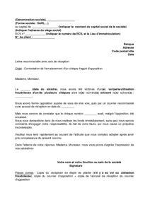 modele lettre opposition prelevement document