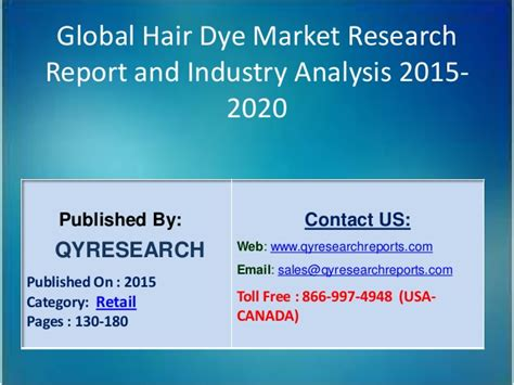l oreal hair dye project report upload share and global hair dye consumption market growth share research