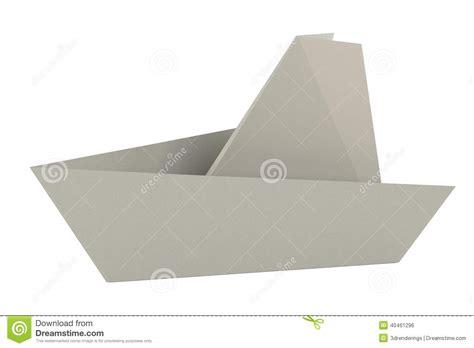 3d render of origami ship stock illustration image 40461296