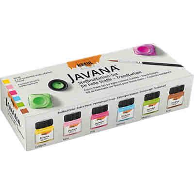 Javana Set 26 By Ratu javana stoffmalfarben set glitter 6 x 20 ml pinsel