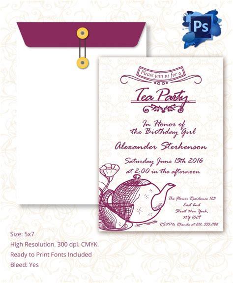 Sle Invitation Template Download Premium And Free Documents In Pdf Psd Tea Invitation Template