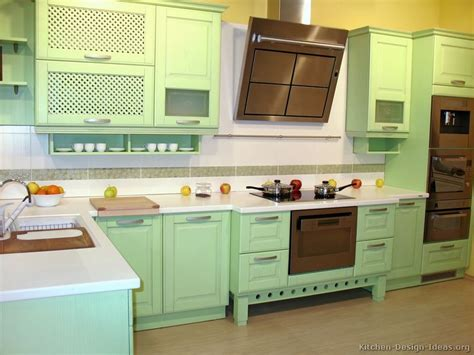 Green Kitchen Cabinets Pictures Of Kitchens Modern Green Kitchen Cabinets
