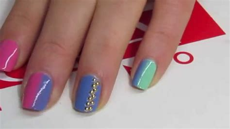 tutorial nail art mikeligna tutorial nailart studded spring nails mikeligna per