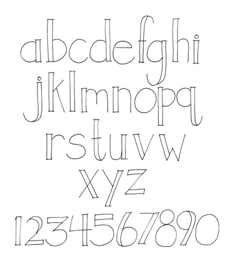 easy printable fonts hand lettering fonts hand lettering open face by