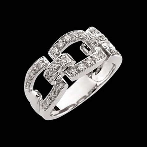 buckle white gold ring