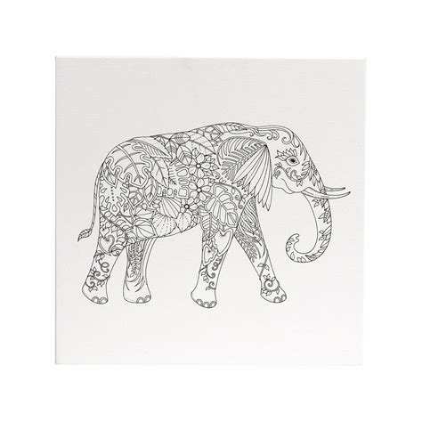 coloring canvas buy magical jungle coloring canvas elephant 12x12