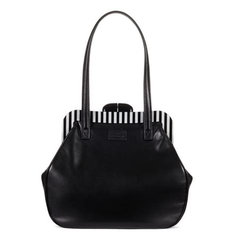 Lulu Guinness Striped Maddy Tote lulu guinness pollyanna leather striped frame tote bag