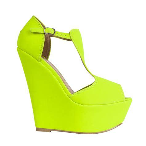 size 5 high heel shoes new womens t bar peep toe platform wedge high heel