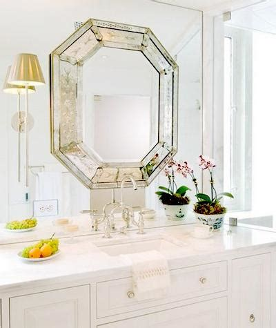 octagon bathroom mirror octagon mirror transitional bathroom huntley company