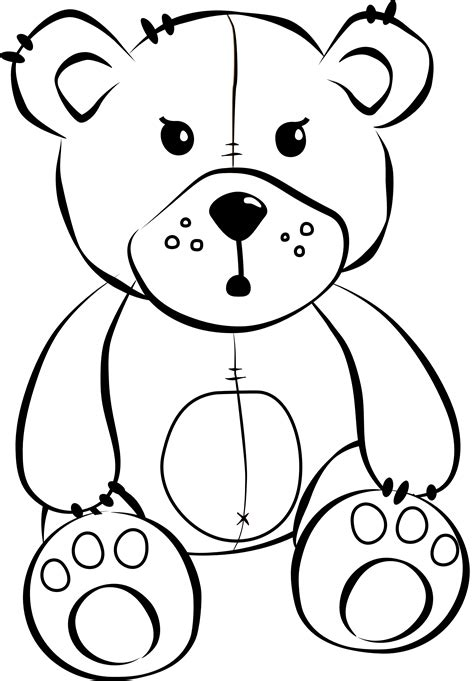printable coloring pages of stuffed animals stuffed animal coloring pages timeless miracle com
