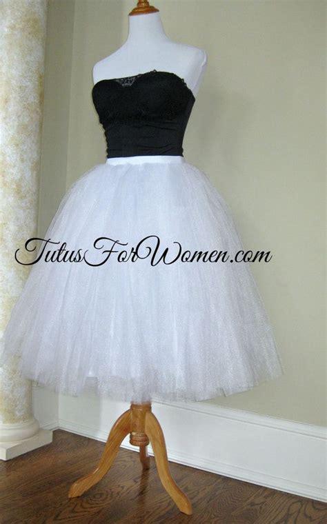 tutu white tulle skirt by