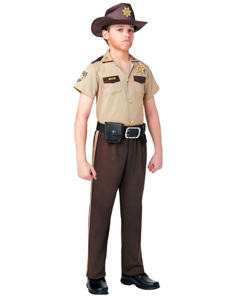 Rick Grimes Costume The Walking Dead Rick Grimes Boy S Costume Exclusively At Spirit Halloween Lead The Pack To