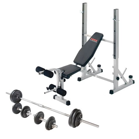 bench with weights v fit folding weight bench and viavito 50kg cast iron