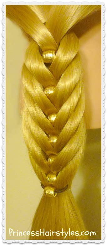 fancy fishtail kit hair tutorial fishtail braid  beads hairstyles  girls princess