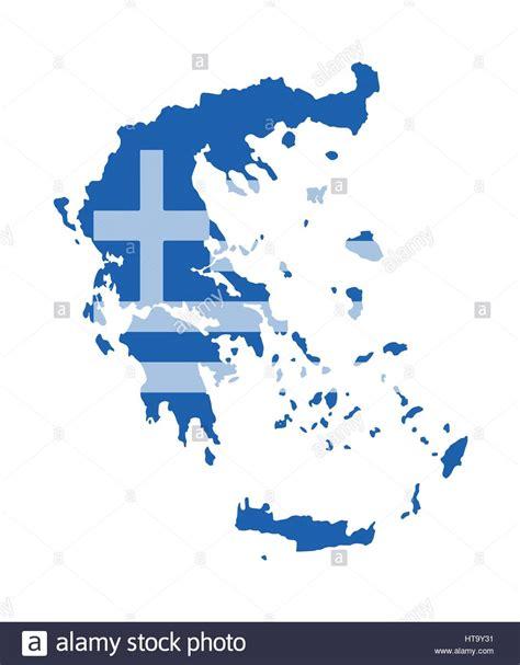 greece map vector greece map vector with the flag stock vector