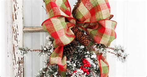 christmas grapevine and pine swag hometalk