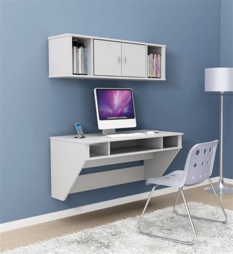 floating white desk floating wall desk in desks and hutches